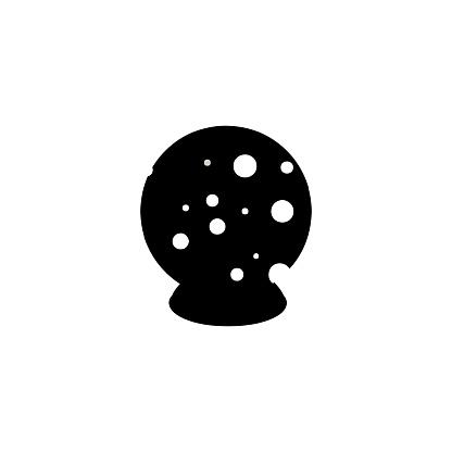 Magic crystal ball vector icon. Isolated Crystal ball flat emoji, emoticon symbol - Vector