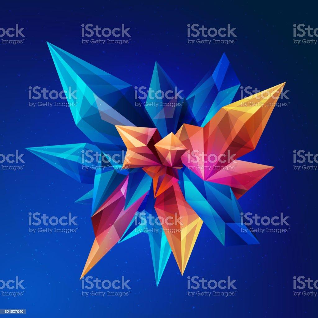 cristal magique astéroïde de cristal figure géométrique abstraite