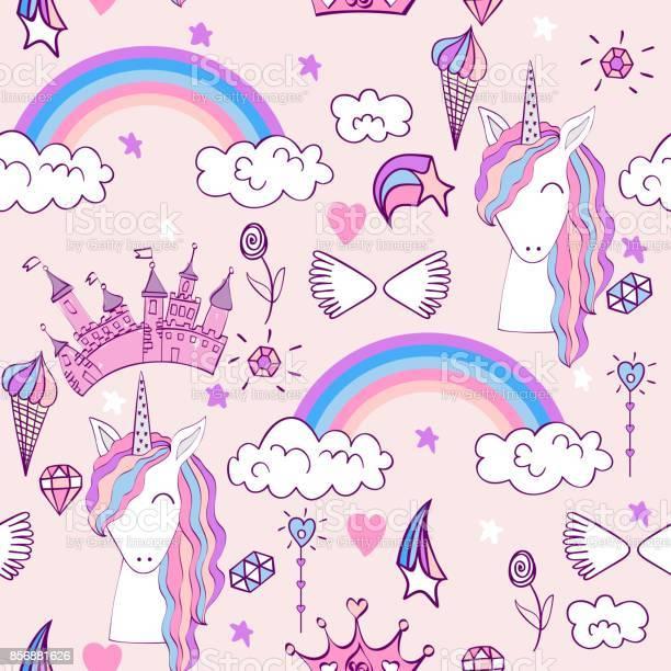 Magic cute unicorn vector id856881626?b=1&k=6&m=856881626&s=612x612&h=ttphgilykqurslm7r qmolbmuigcftw sq1zre3jje0=