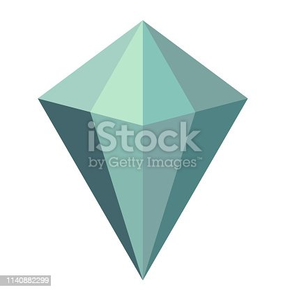magic diamond flat illustration. Magic elements and creatures series.