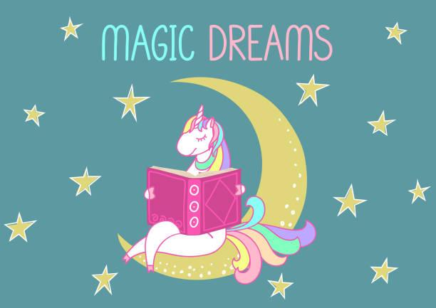 ilustrações de stock, clip art, desenhos animados e ícones de magic dreams. - unicorn bed