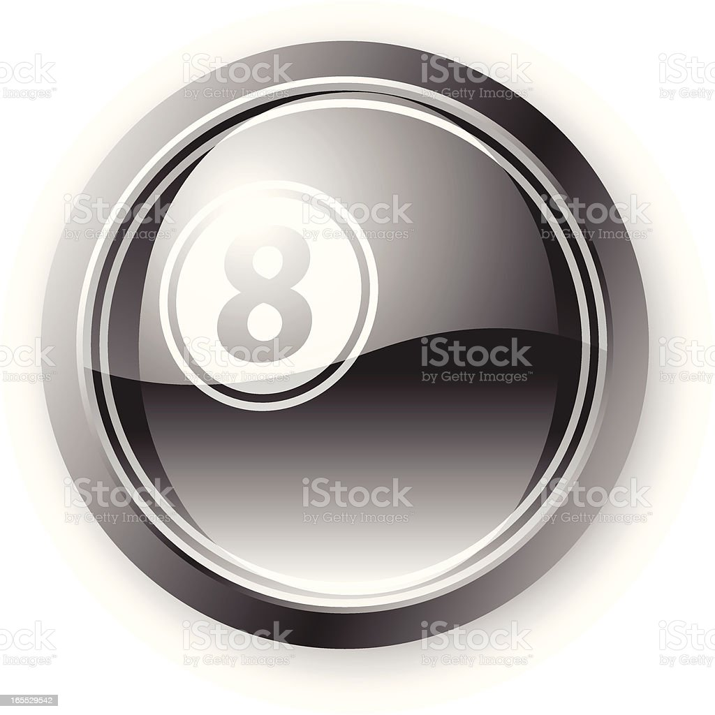 Magic Eight Icon royalty-free stock vector art
