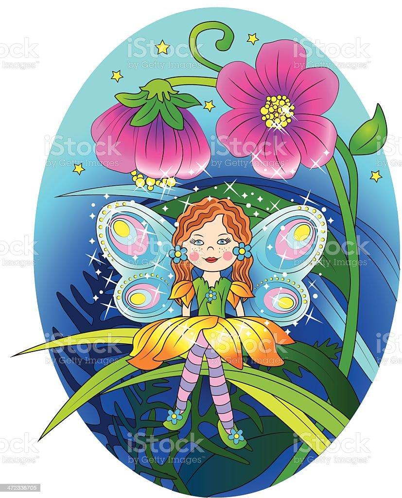Magic fairy royalty-free stock vector art