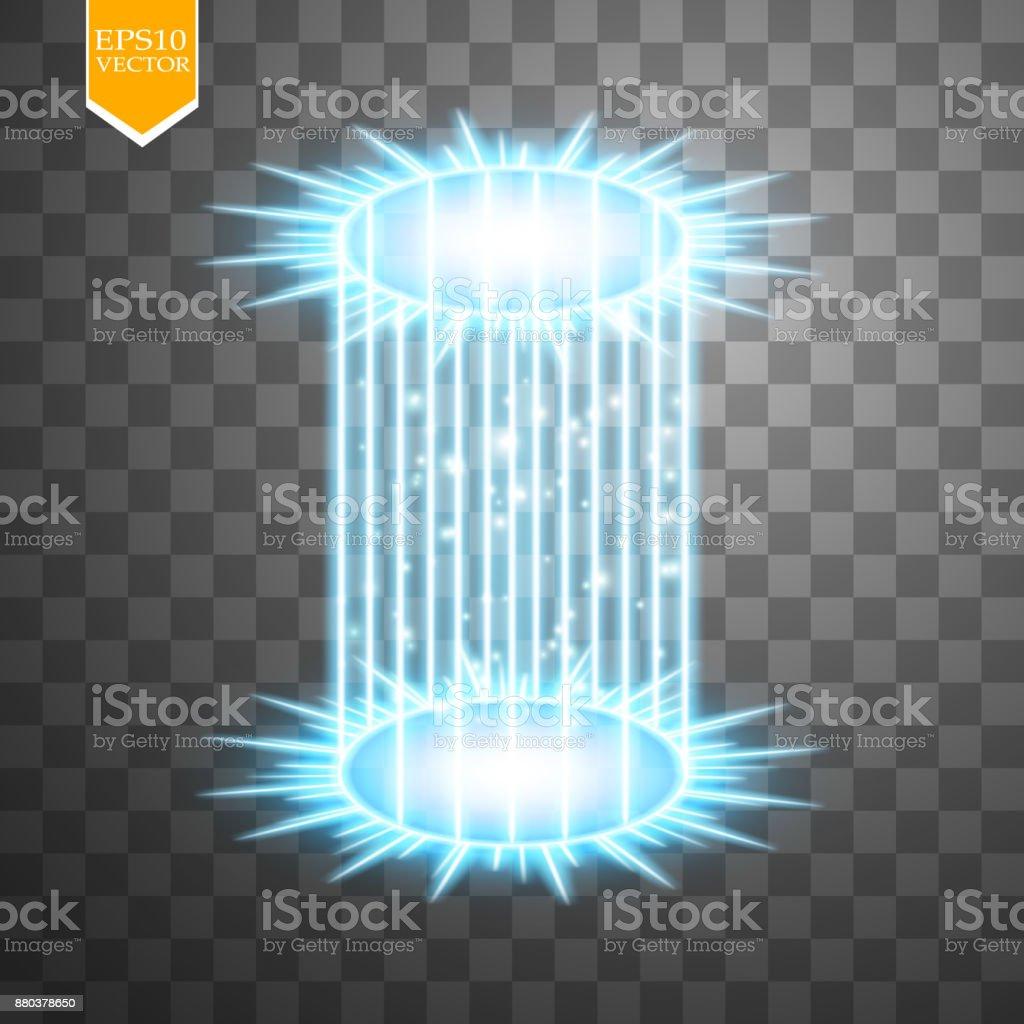Futuristic teleport. Light effect. Blue candles rays of a night & Magic Fantasy Portal Futuristic Teleport Light Effect Blue Candles ...