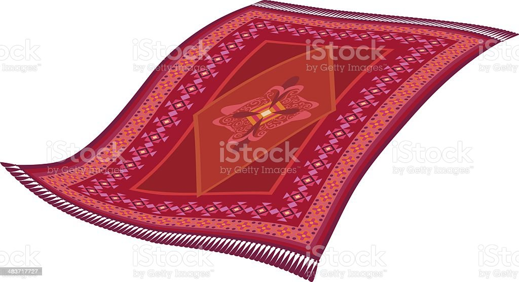 Magic flying rug royalty-free stock vector art