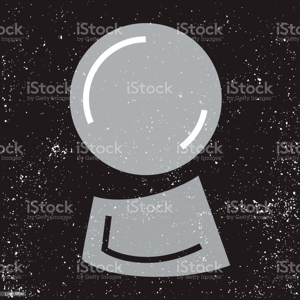 Magic Fortune Telling Crystal Ball Of Divination Line Vector