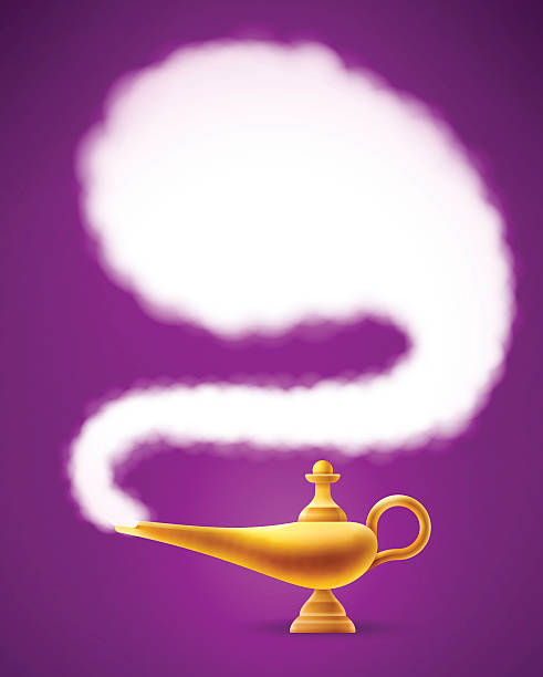 Magic Genie Lamp vector art illustration