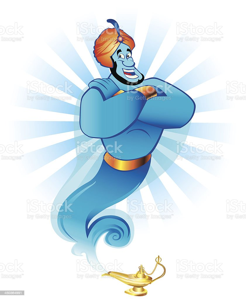 Magic genie royalty-free stock vector art