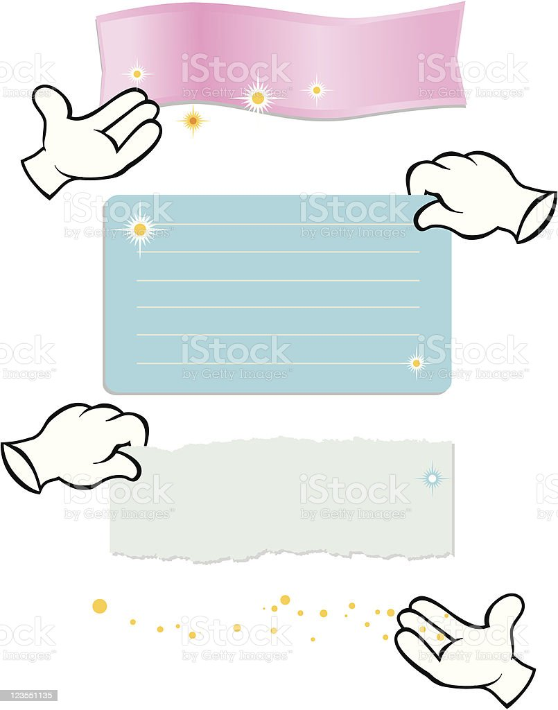 Magic Gloves royalty-free stock vector art