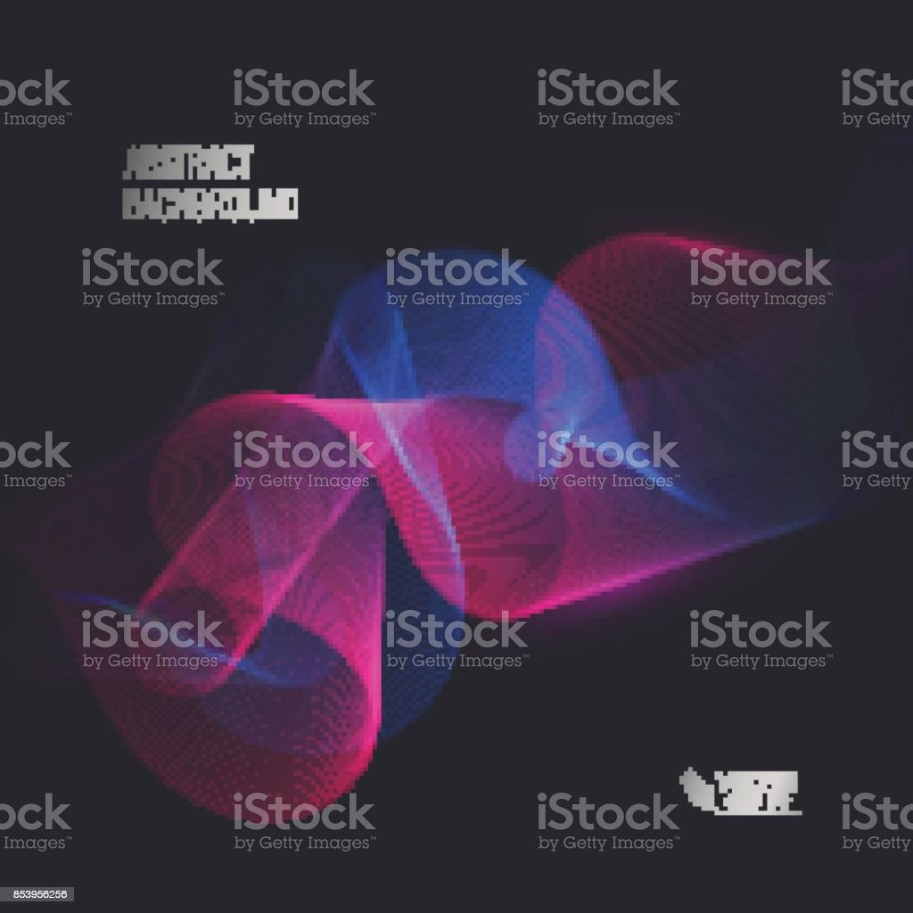 Magic glowing effect on dark background for your design, abstract effect. Vector eps 10 vector art illustration