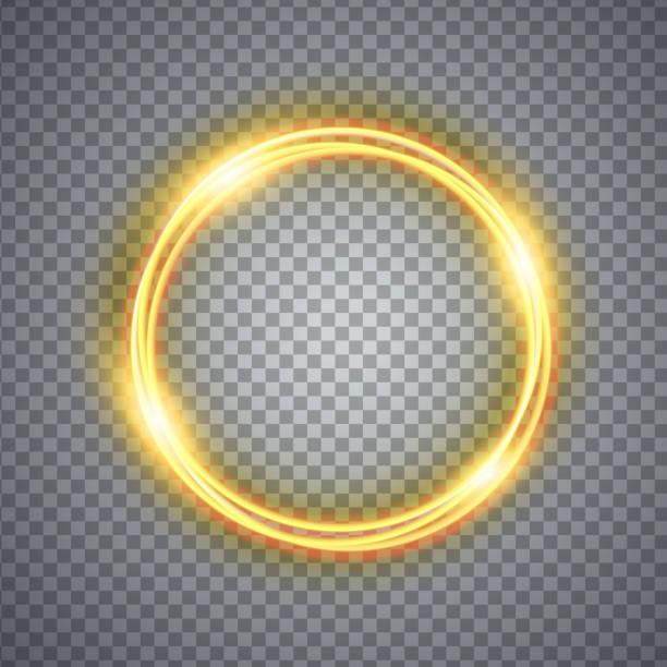 gold zauberkreis lichteffekt. abbildung auf hintergrund isoliert - neonhosen stock-grafiken, -clipart, -cartoons und -symbole