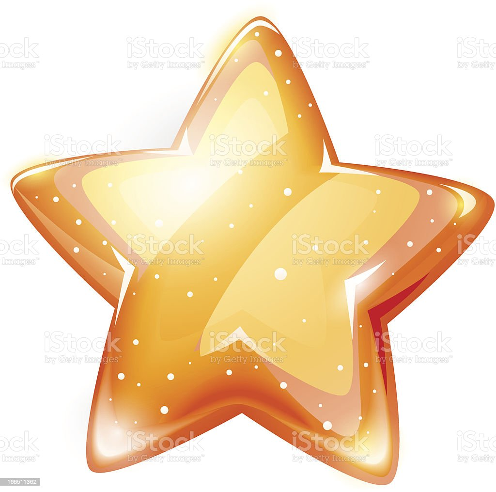 magic gold glossy star isolated royalty-free stock vector art