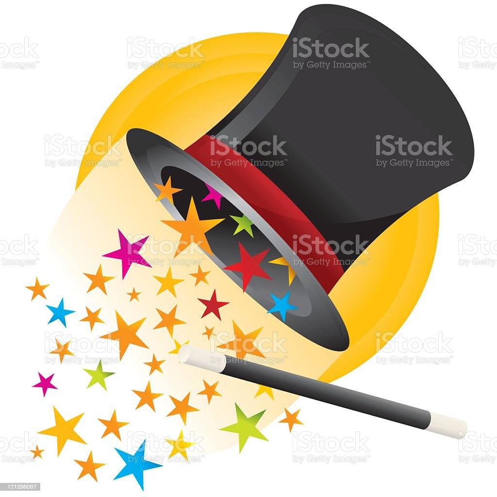 Magic Hat royalty-free stock vector art