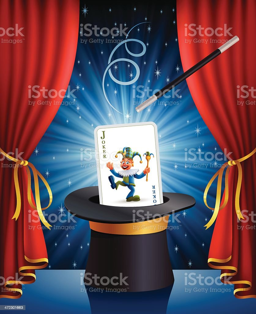 Magic Joker royalty-free stock vector art