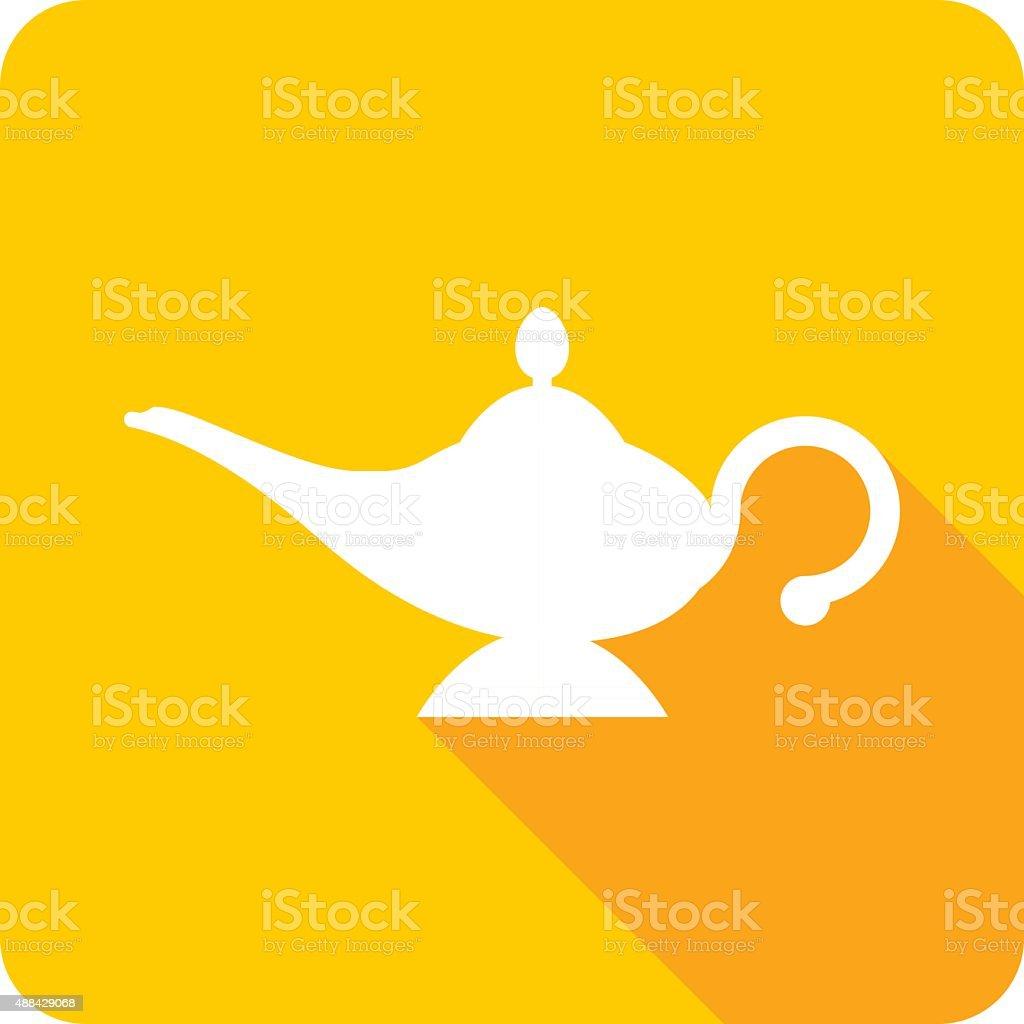 Magic Lamp Icon Silhouette vector art illustration