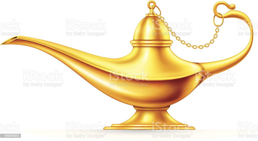 Magic Lamp Stock Vector Art More Images Of Aspirations 165928352