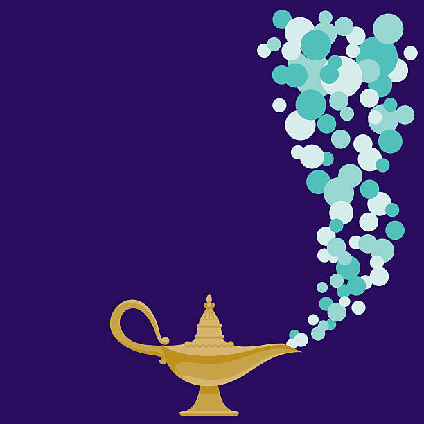 Magic Lamp vector art illustration