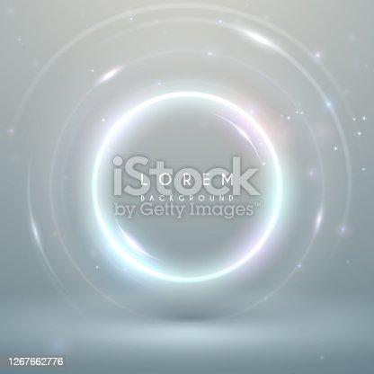 istock Magic light white ring background 1267662776