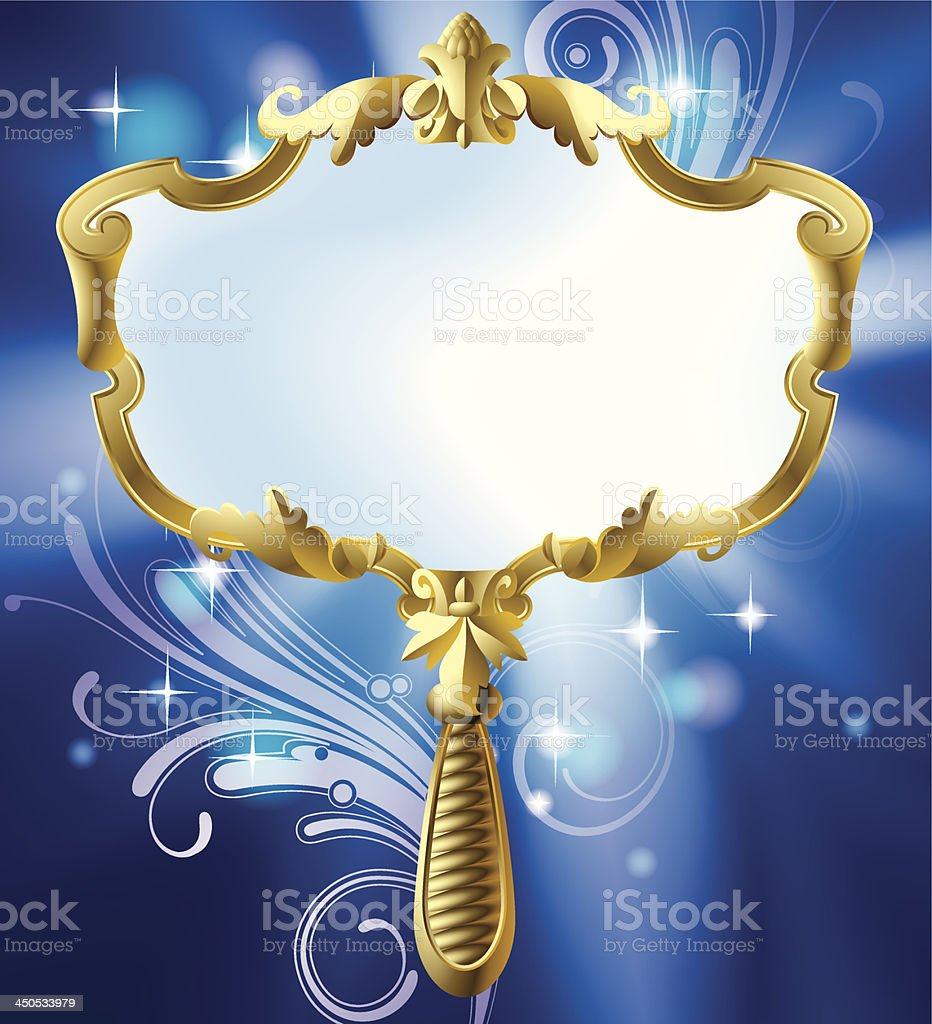 Magic mirror vector art illustration