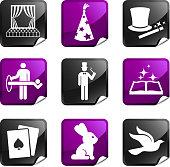 magic nine royalty free vector icon set