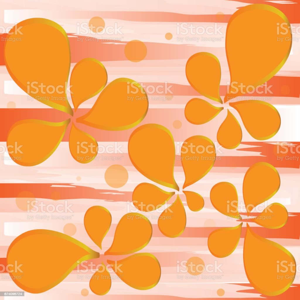 magic orange flower on yellow background royalty-free magic orange flower on yellow background stock vector art & more images of abstract