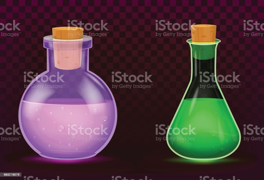 Magic potion vector art illustration