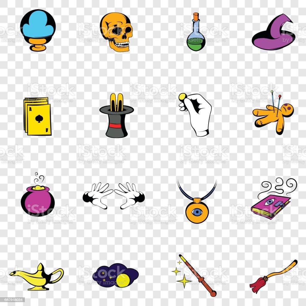 Magic set icons royalty-free magic set icons stock vector art & more images of bird