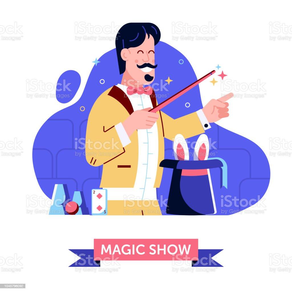 Show de magia con el sombrero mágico y conejo ilustración de show de magia  con el 5f1777a7a6e