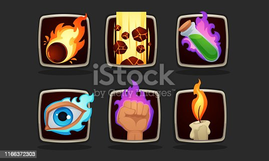 magic skills icon for your mobile RPG game