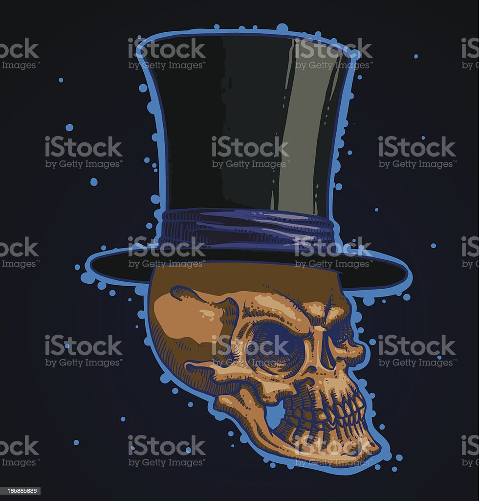 Magic skull royalty-free stock vector art