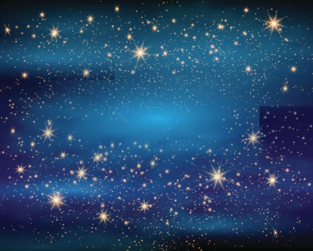 Magic Space. Fairy Dust. Infinity. Abstract Universe Background. Blue Gog and Shining Stars. Vector illustration Magic Space. Fairy Dust. Infinity. Abstract Universe Background. Blue Gog and Shining Stars. Vector illustration. dreamlike stock illustrations