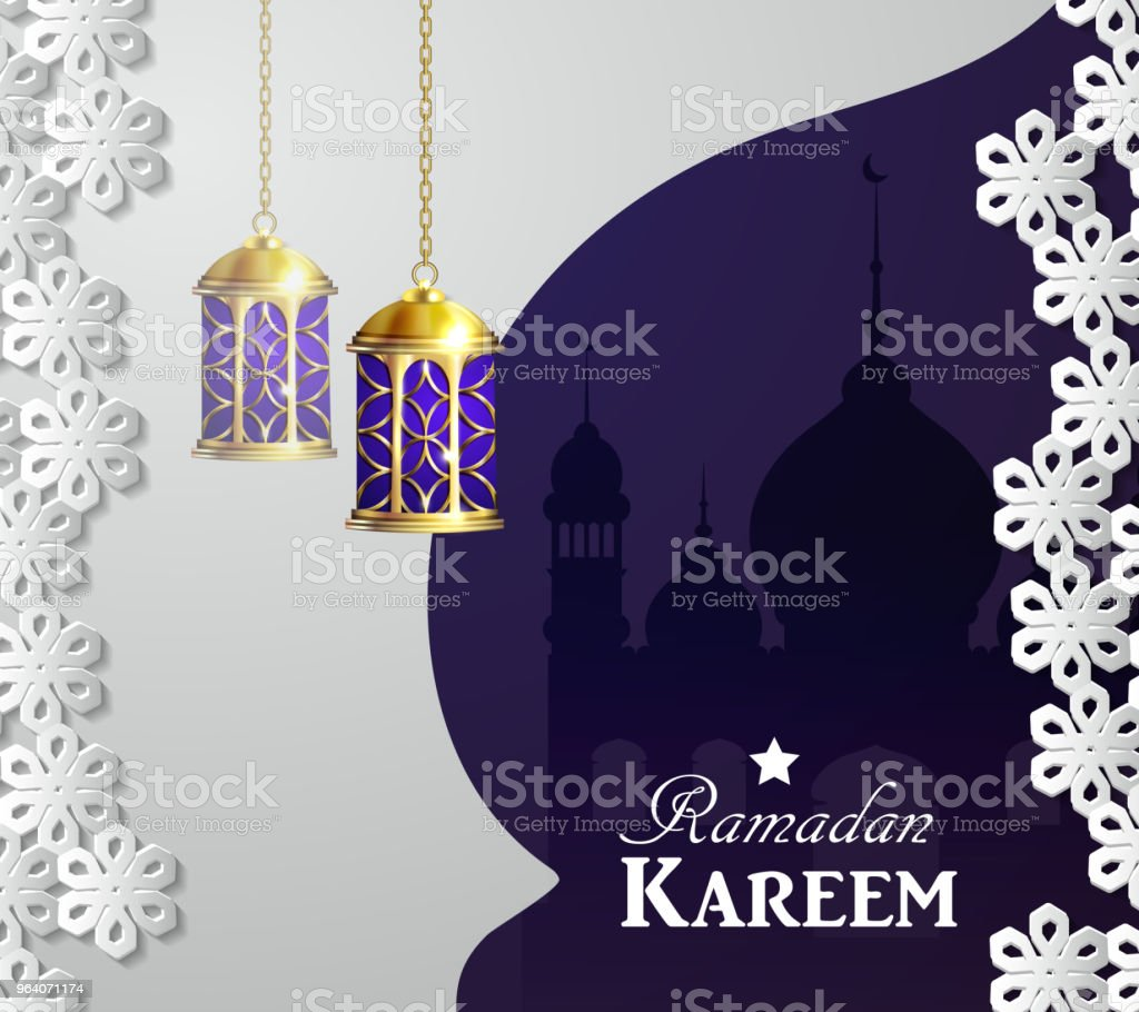 magic stain glass light - Royalty-free Allah stock vector