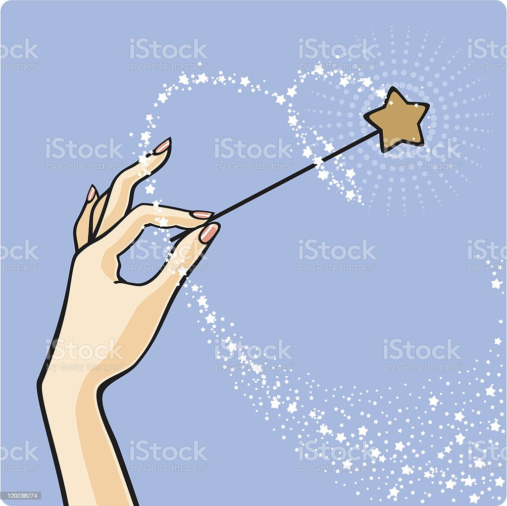 Magic star dust vector art illustration