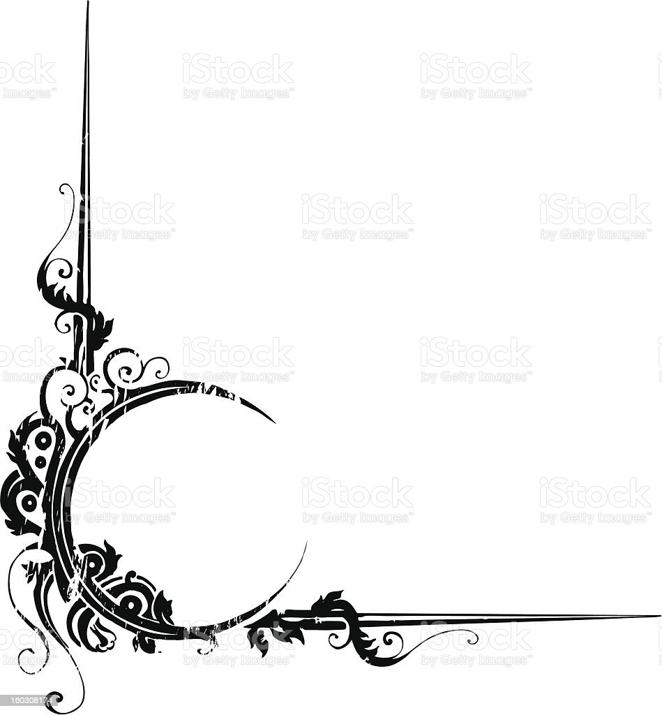 magic theme distressed border stock vector art more images of art