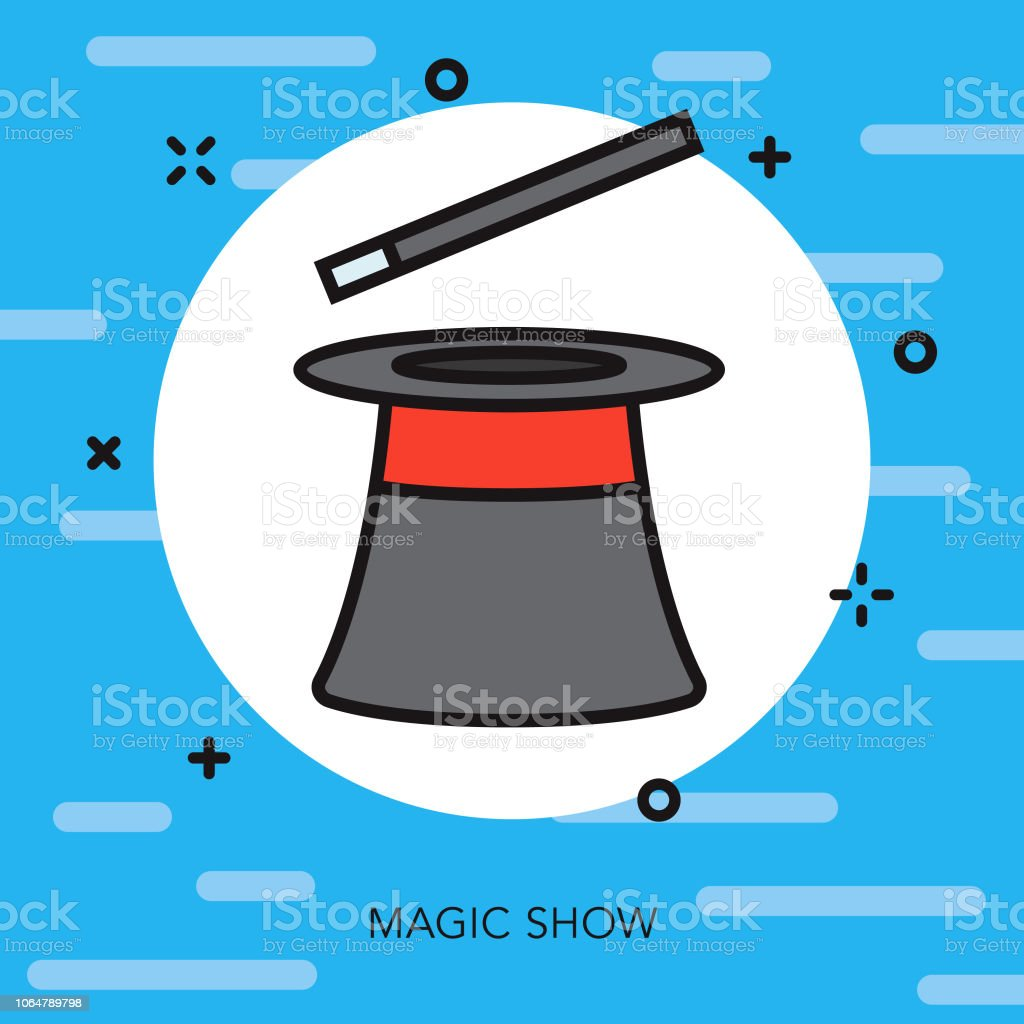 Magic Thin Line Arts Icon vector art illustration
