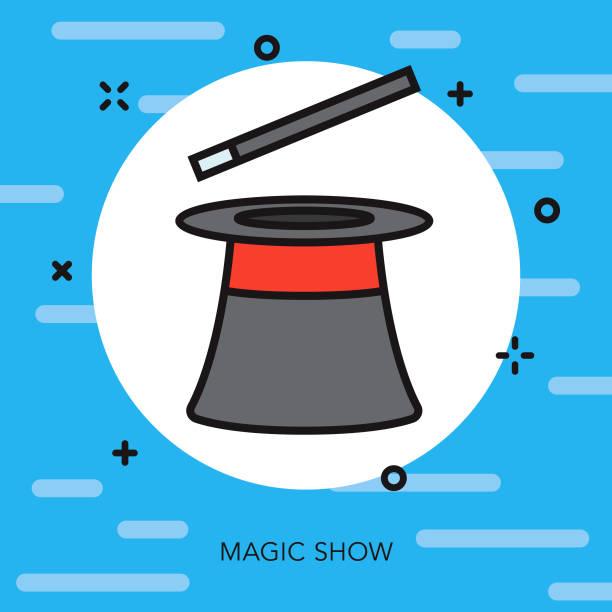 Magic Thin Line Arts Icon vector art illustration
