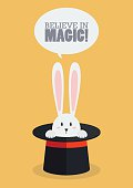 Magic top hat with rabbit