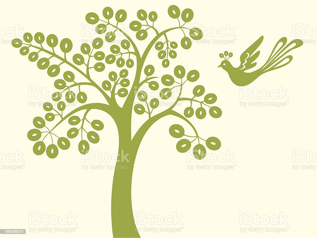 Magic Tree & Birdie royalty-free magic tree birdie stock vector art & more images of abstract