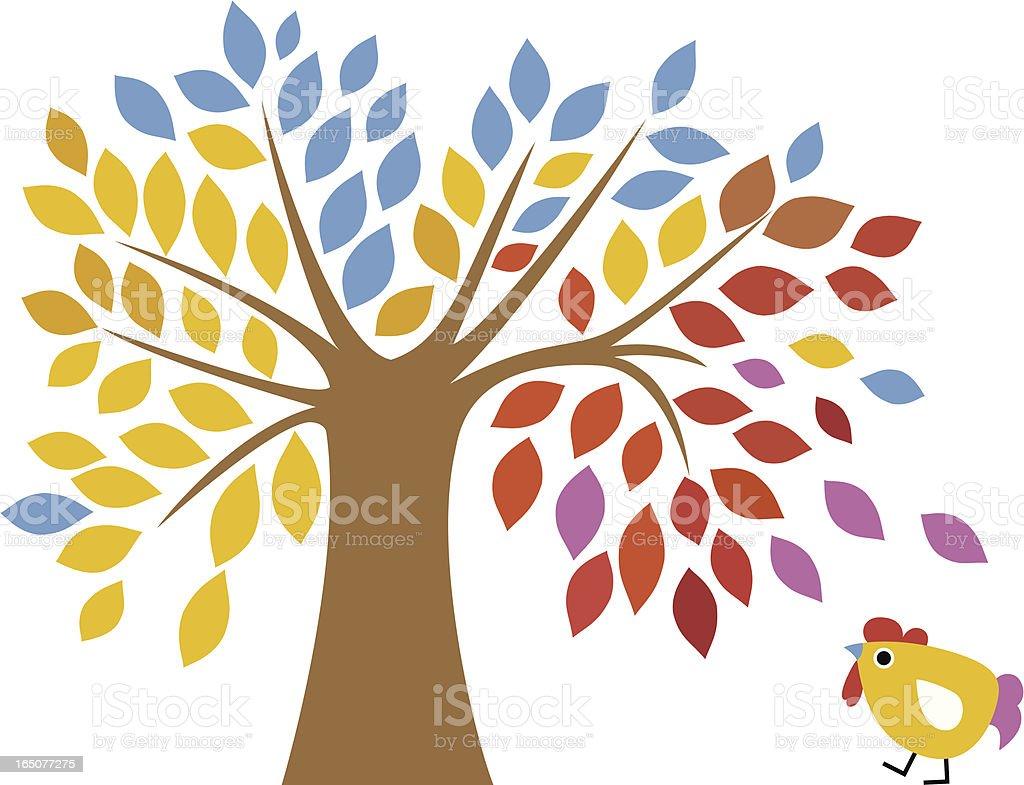 Magic Tree & Birdie royalty-free stock vector art