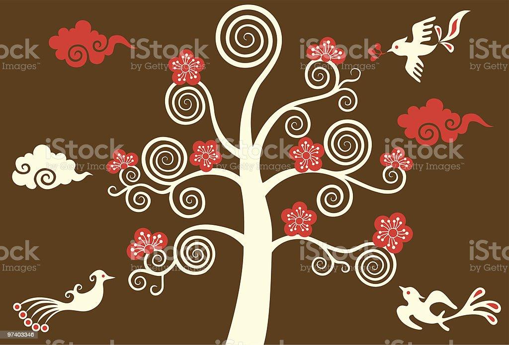 Magic Tree & Birds royalty-free magic tree birds stock vector art & more images of animal themes