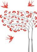 Magic Tree & Swallows