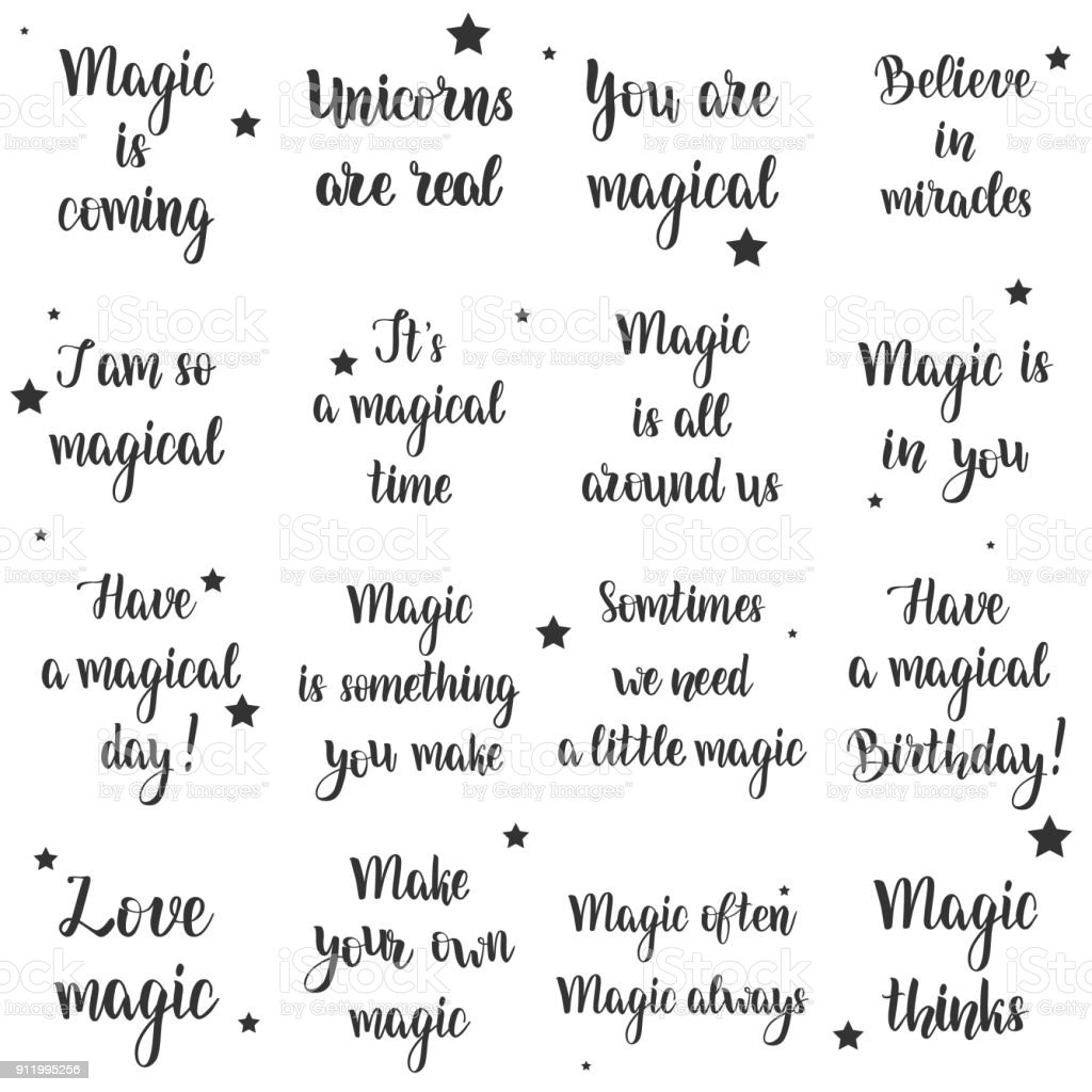Magic typography set.