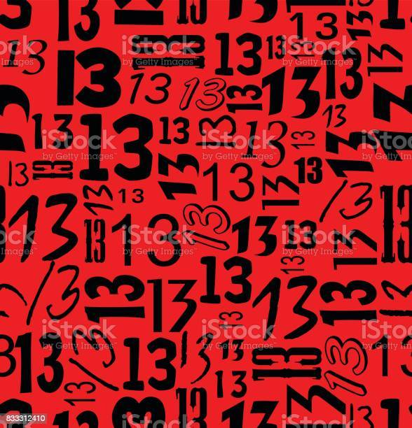 Magic unlucky number thirteen typographical seamless background with vector id833312410?b=1&k=6&m=833312410&s=612x612&h=2hgfjiooqh6hq28uwhflnikkgnnwfv3jgv se83omic=