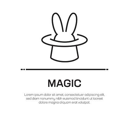 Magic Vector Line Icon - Simple Thin Line Icon, Premium Quality Design Element