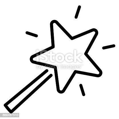 Magic Wand Icon On White Background Stock Vector Art More Images