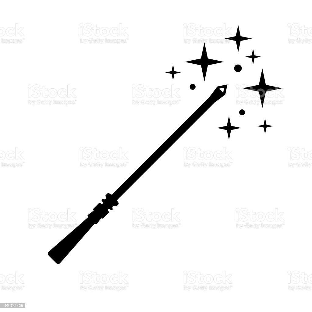 Magic Wand Icon Stock Illustration - Download Image Now ...