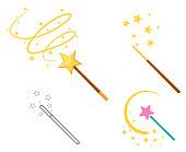 istock Magic wand set 1135068465