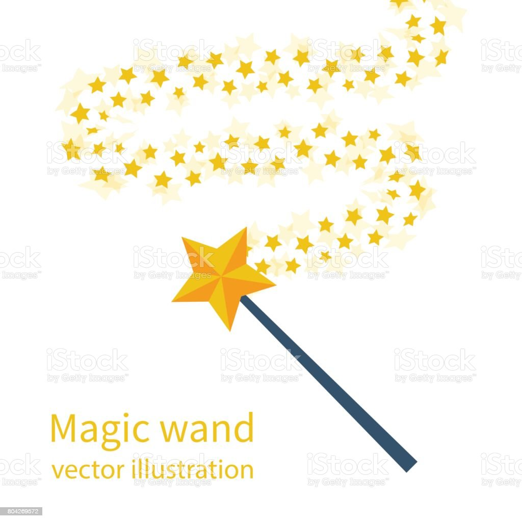 Magic wand with a star