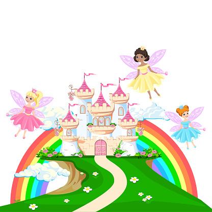 magical castle of a beautiful princess