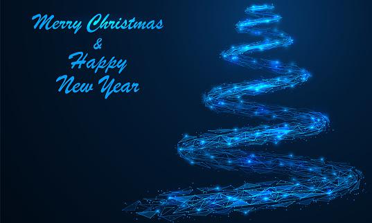 Magical Christmas tree.